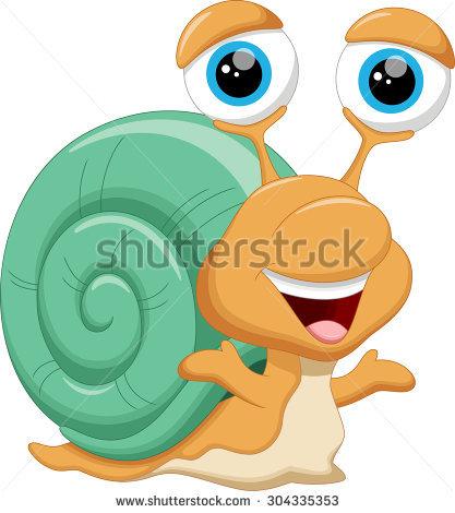Snail Racer Rushing High Speed Humor Stock Illustration 102855323.