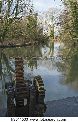Stock Photography of River Kennet at Padworth Mill, near reading.