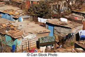 People In Slums Clipart.
