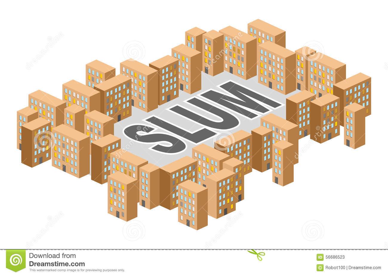 Slum Stock Illustrations.