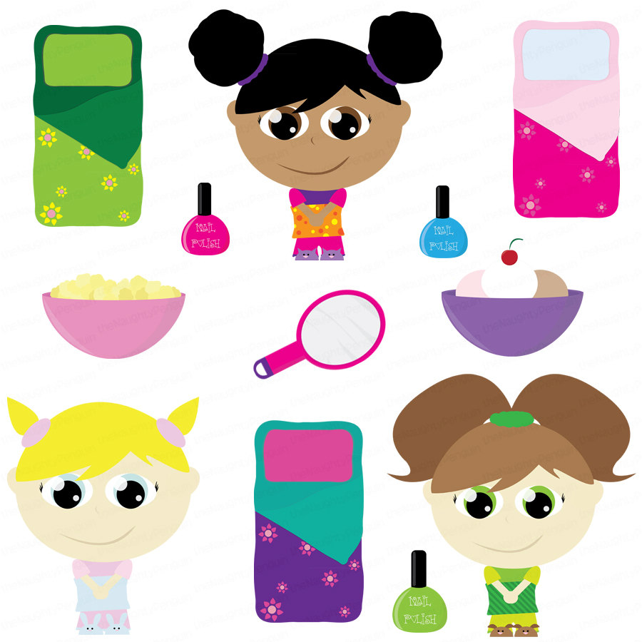 Free Clip Art Slumber Party.