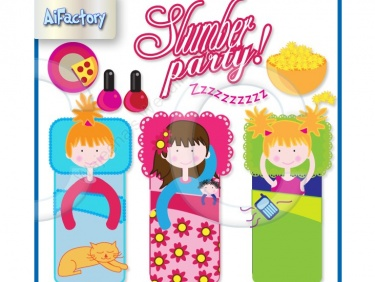 Fun Slumber Party clipart.