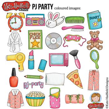 Slumber Party Clip Art: \