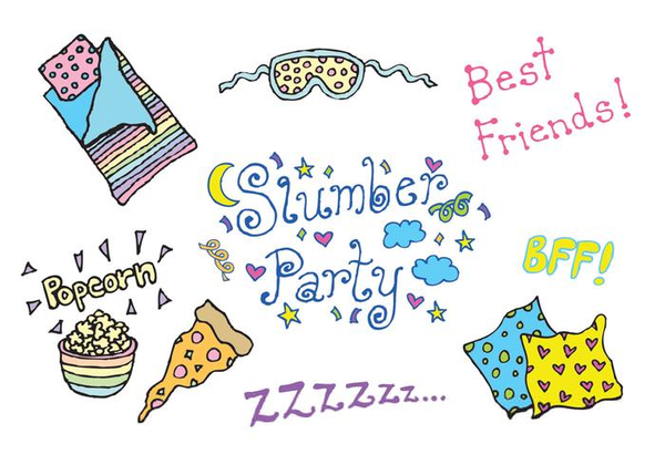 Free Clipart Girls Slumber Party.