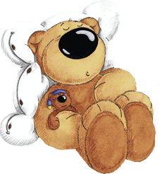 Sleeping Teddy Bear Clipart.