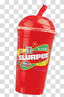 Red and white Slurpee cup close.