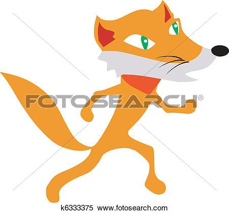 Clipart of sly fox k6333375.