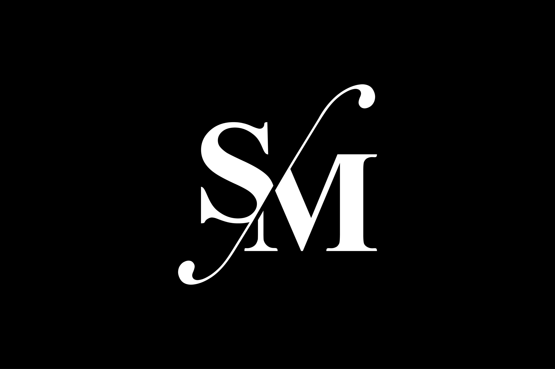 SM Monogram Logo Design By Vectorseller.