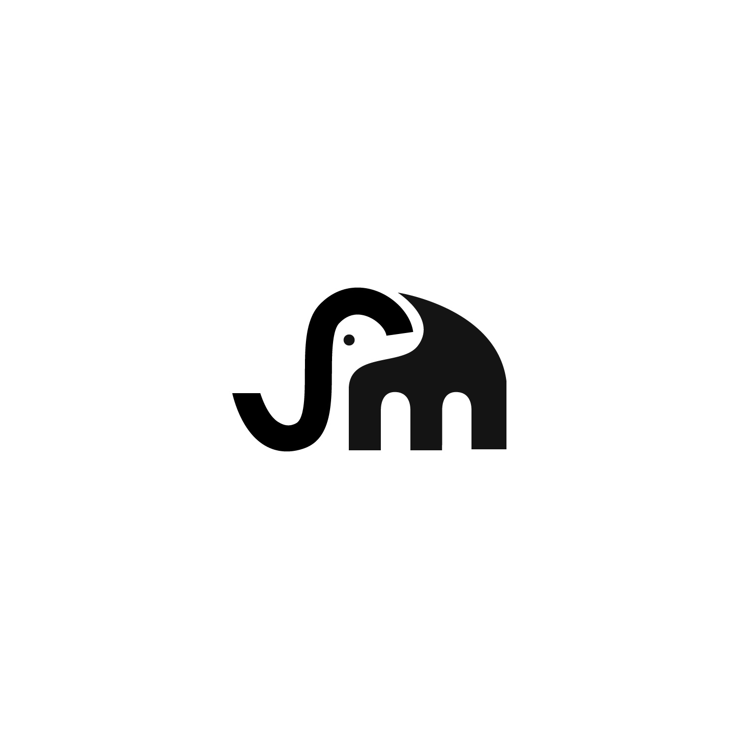 Modern, Colorful Logo Design for SM in Elephant shape by.