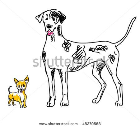 Small Big Dog Clipart.