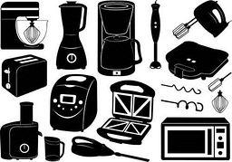 Kitchen appliances clipart.