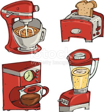 Small Kitchen Appliances stock vector art 165079244.