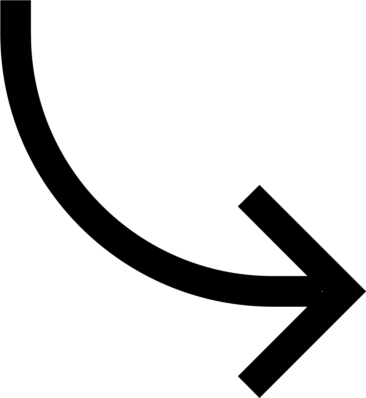 Clip Art Curved Arrow Icon.