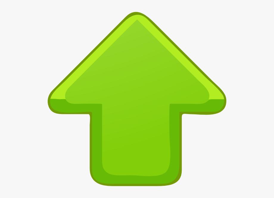 Up Arrow Green Small Clip Art.