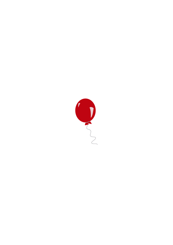 Free Clipart: Red balloon.