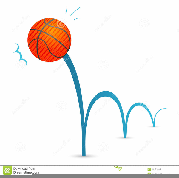 Animated Bouncing Basketball Clipart.