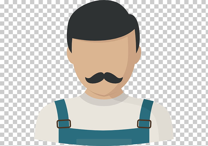 Scalable Graphics Icon, Men wearing overalls small beard PNG.