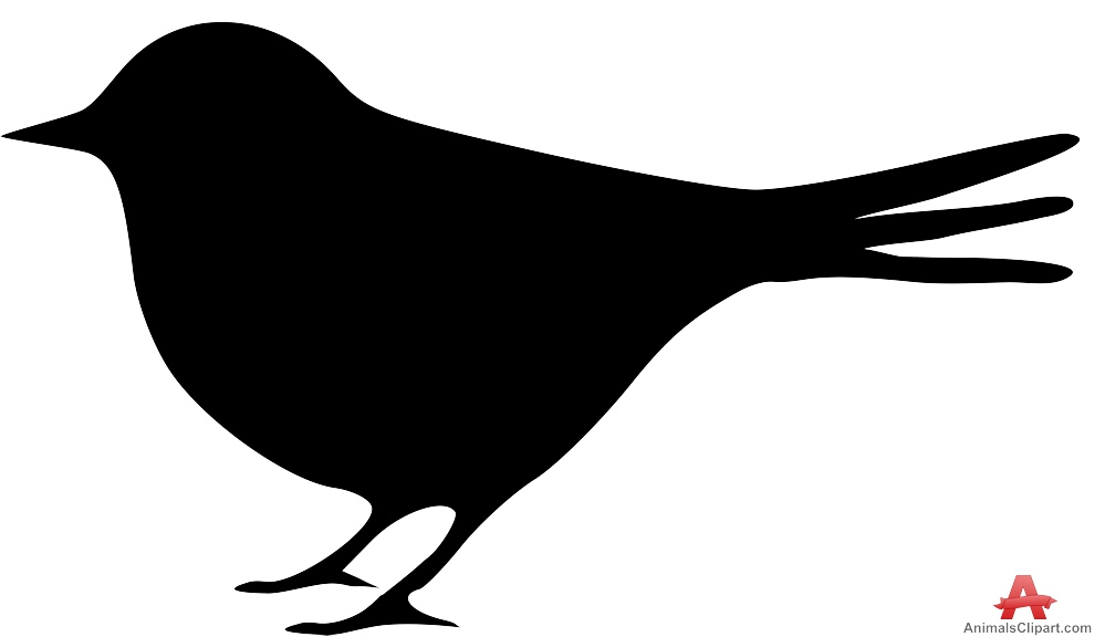 Free clipart for black silhouette of small birds.