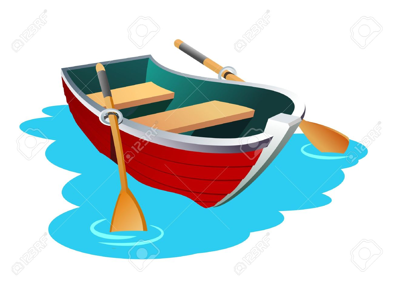 Rowing Boat Clipart.