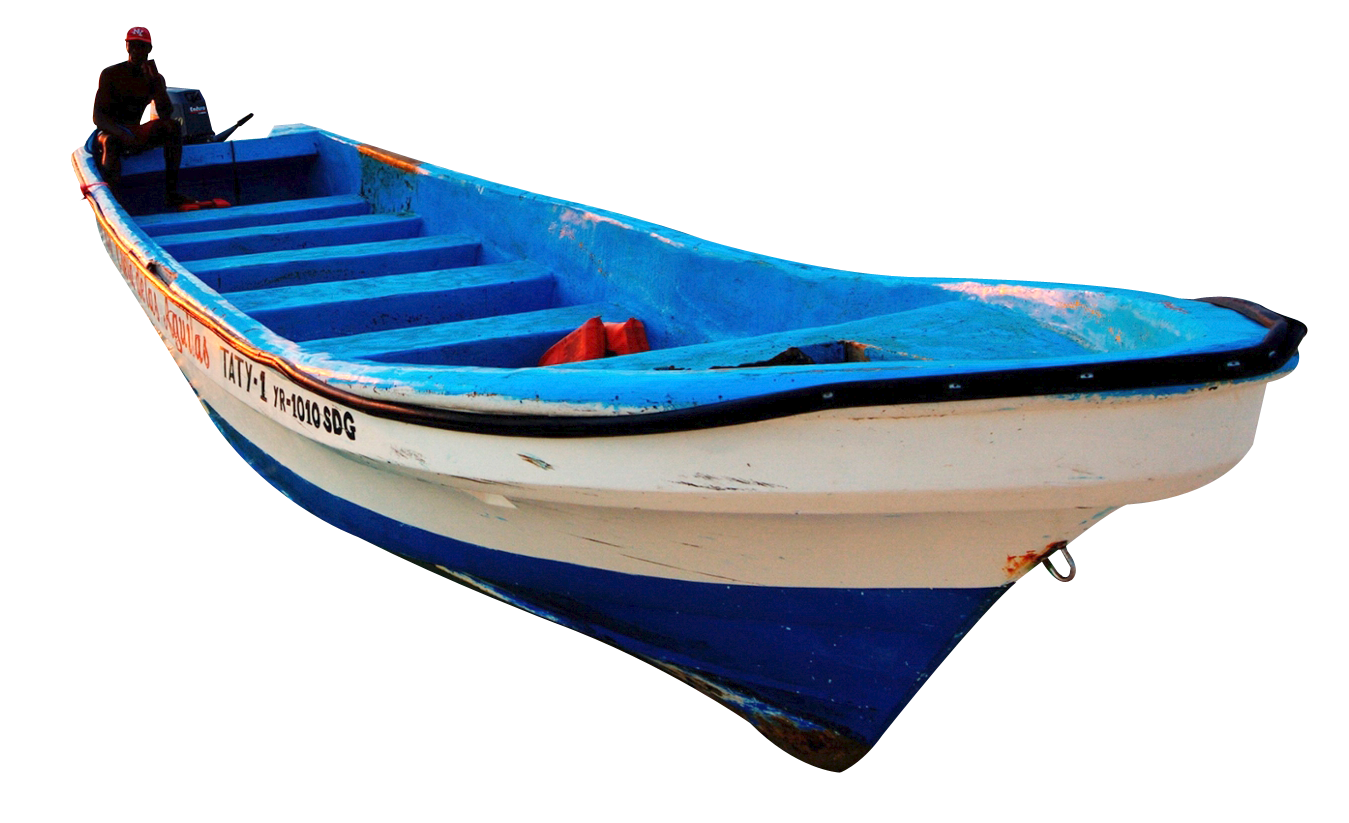 Wooden Boat PNG Image.