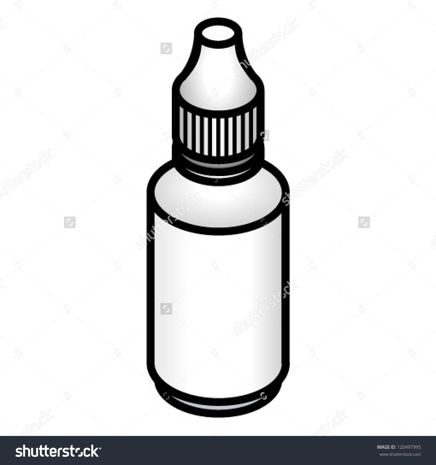 Small Bottle Medicinal Drops Stock Vector 120497995.