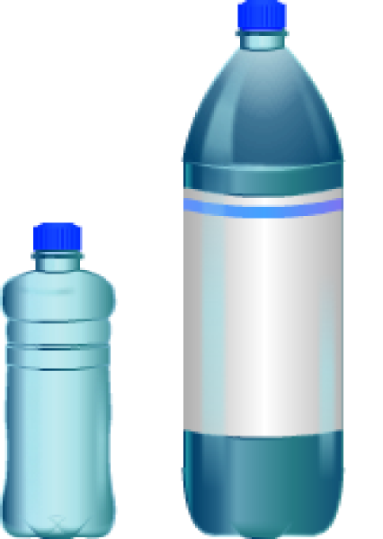 Small bottle of water clipart.