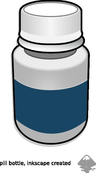 Small Medicine Bottle Clipart.