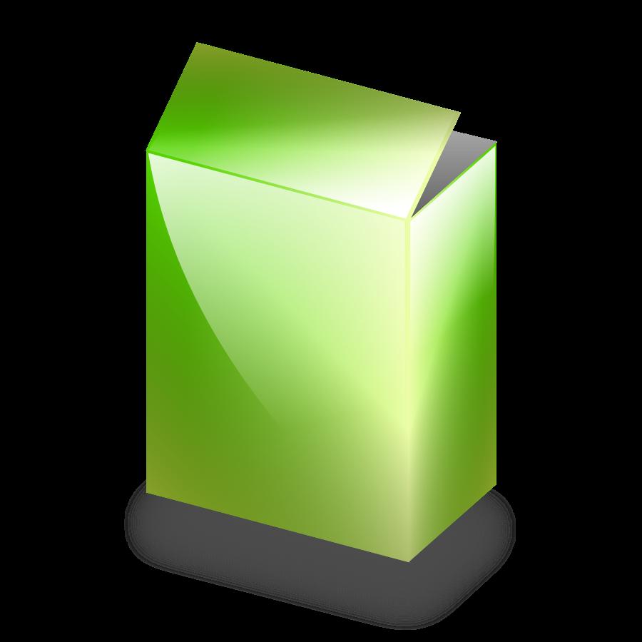 Green Box small clipart 300pixel size, free design.