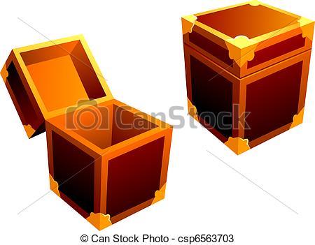 Vectors of small decorative box csp6563703.