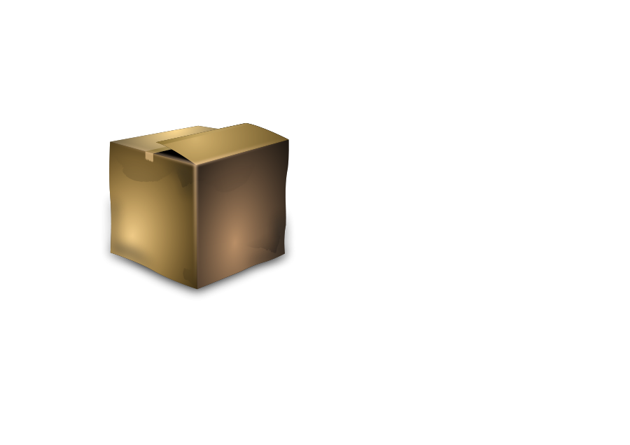 Cardboard Box small clipart 300pixel size, free design.