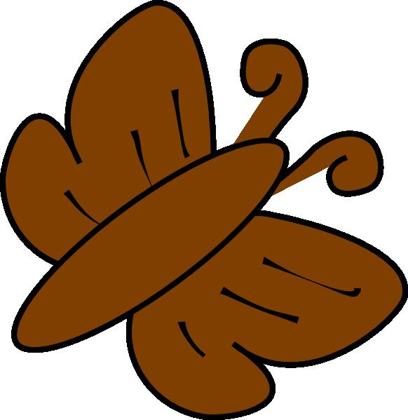 Brown Butterfly Clip Art at Clker.com.
