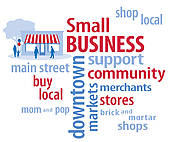 Clip Art of Small Business Word Cloud k12474759.