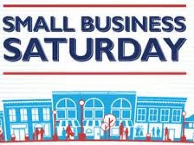 Saturday November 30: Small Business Saturday.