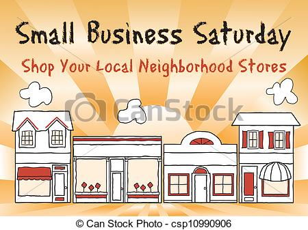 Vector Clipart of Small Business Saturday encourages shopping at.