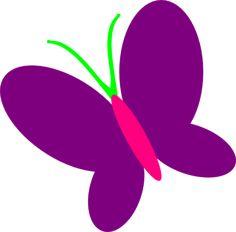 Butterfly Pink Clip Art.