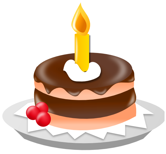 Small Chocolate Cake PNG Clipart.