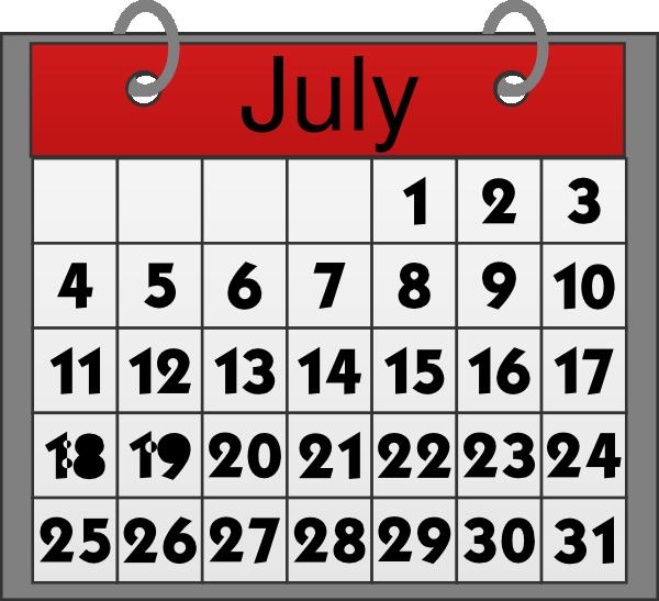 Calendar Clipart July.