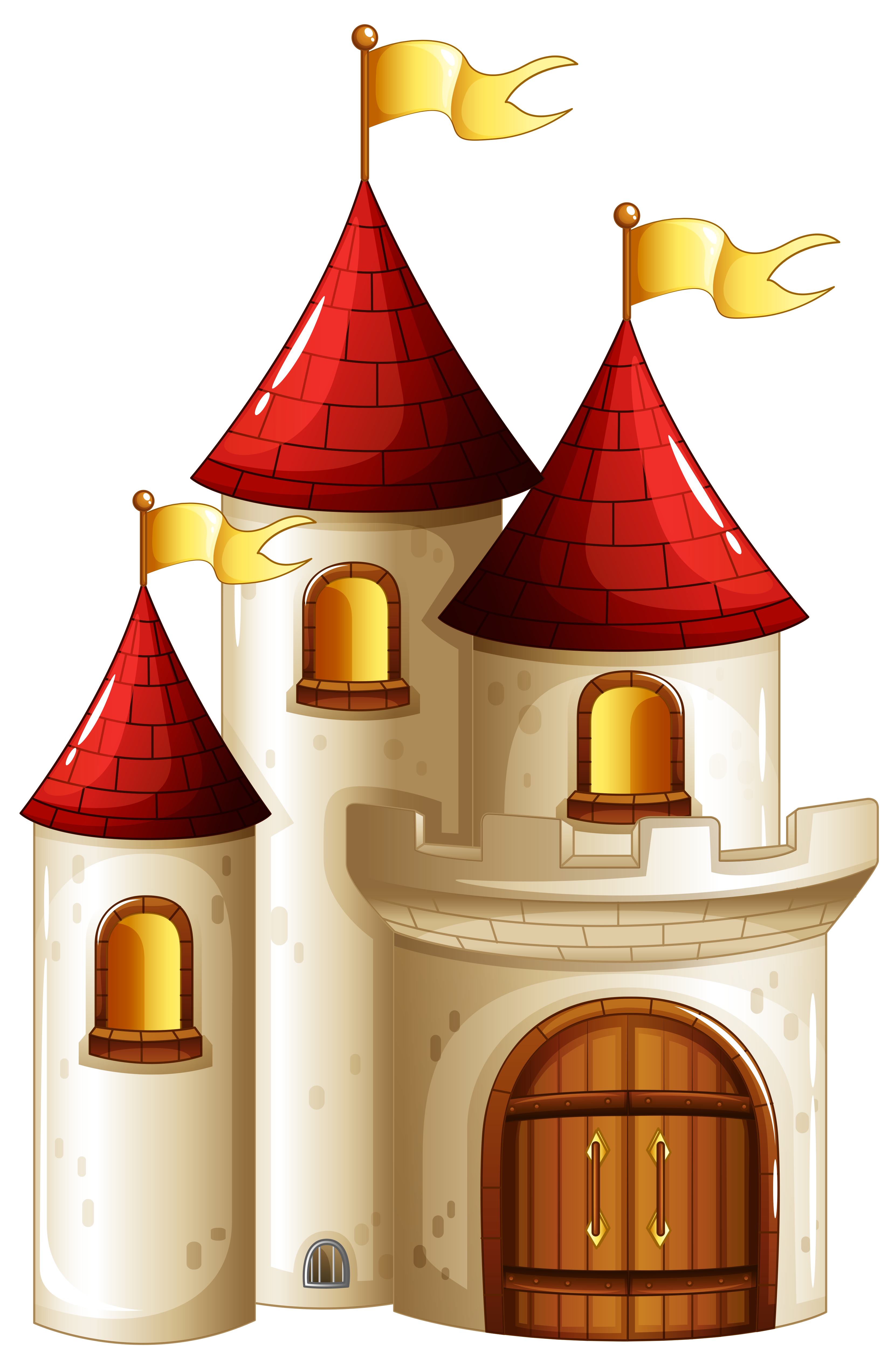 Transparent Small Castle PNG Picture.