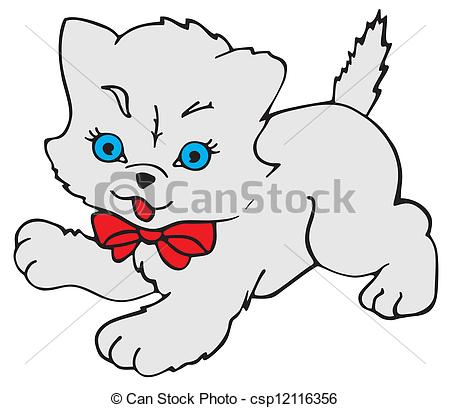 Clipart Vector of Kitty Cat.