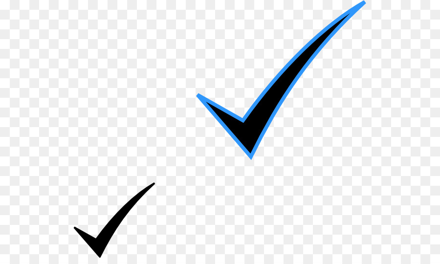 Blue Check Mark clipart.