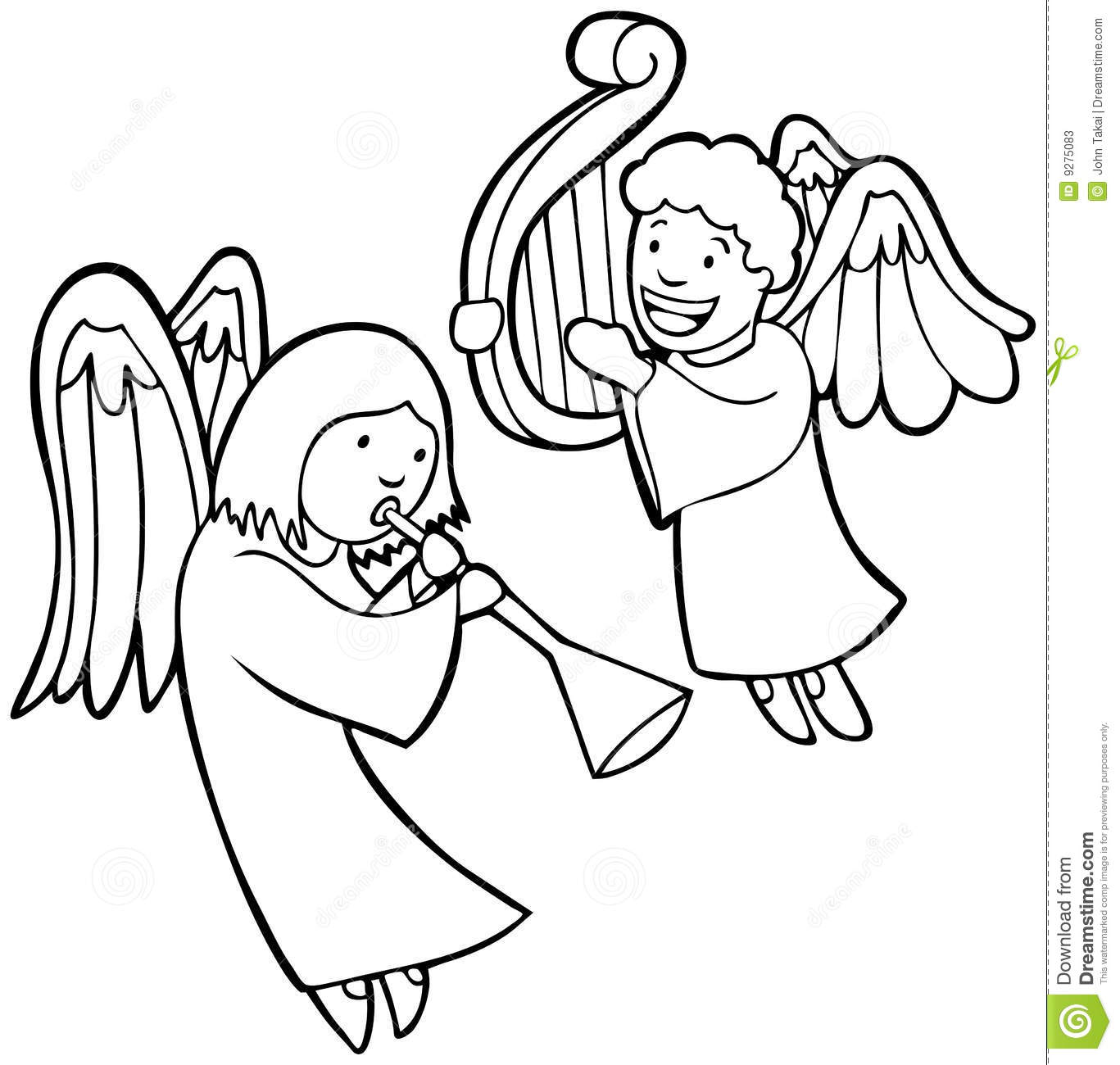 Cartoon Angles Singing Of Christ Lds Coloring Page