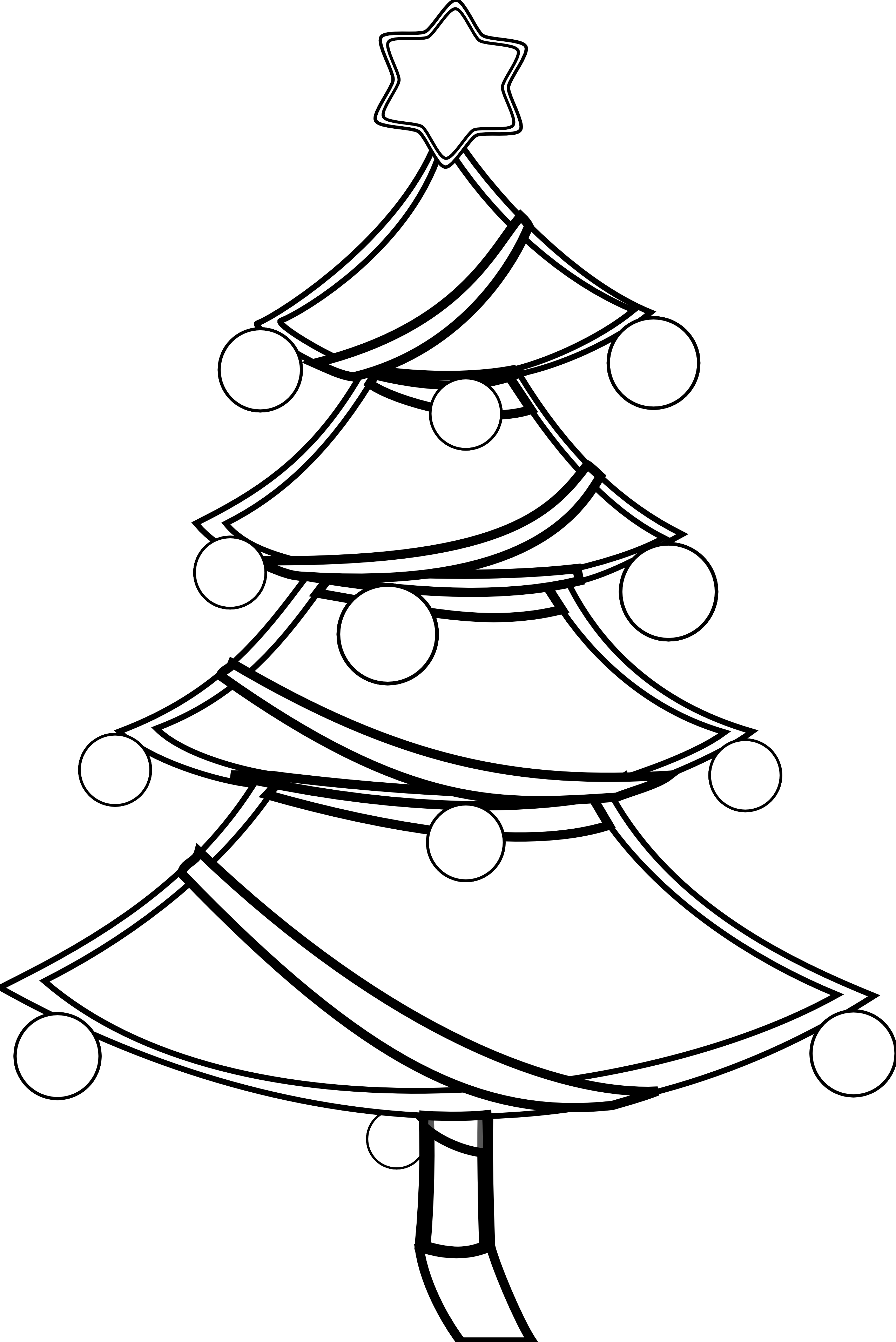 Small black and white christmas clip art.
