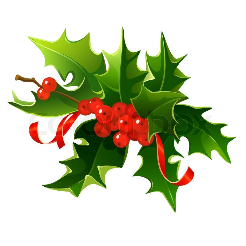 847 Christmas Holly free clipart.