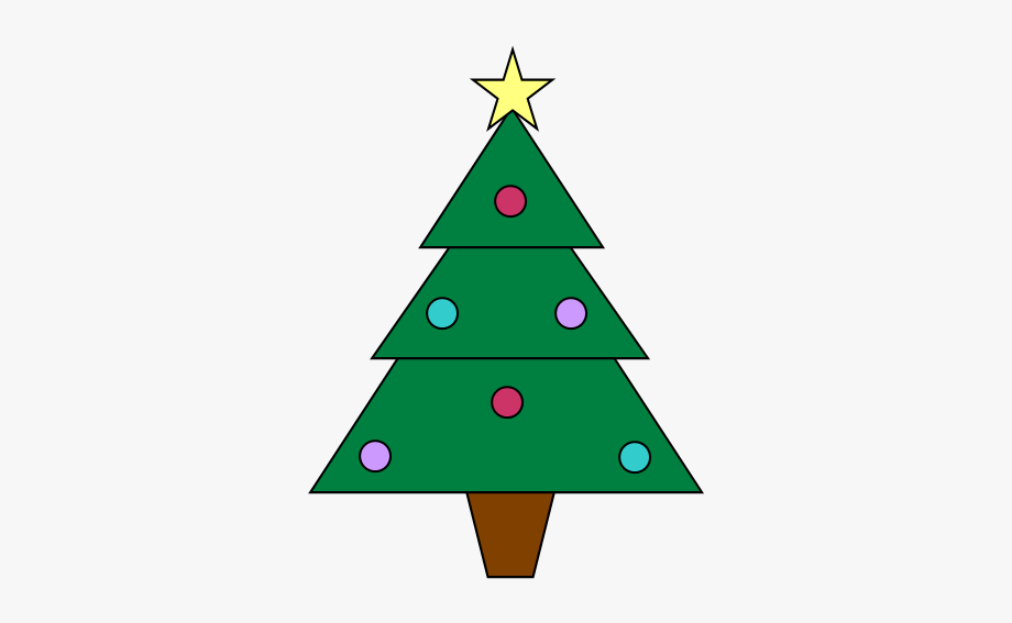 Two Free Christmas Tree Clipart Images.
