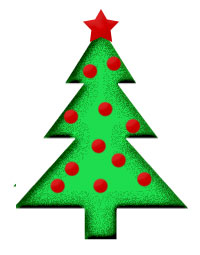 Small Green Christmas Tree.