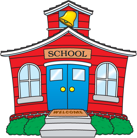 Small School House Clipart.