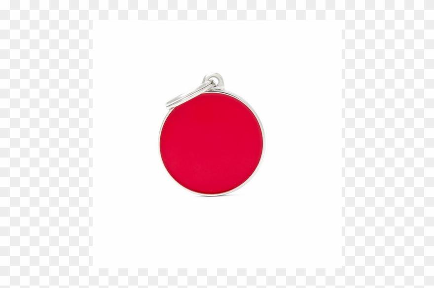 Basic Handmade Big Red Circle.