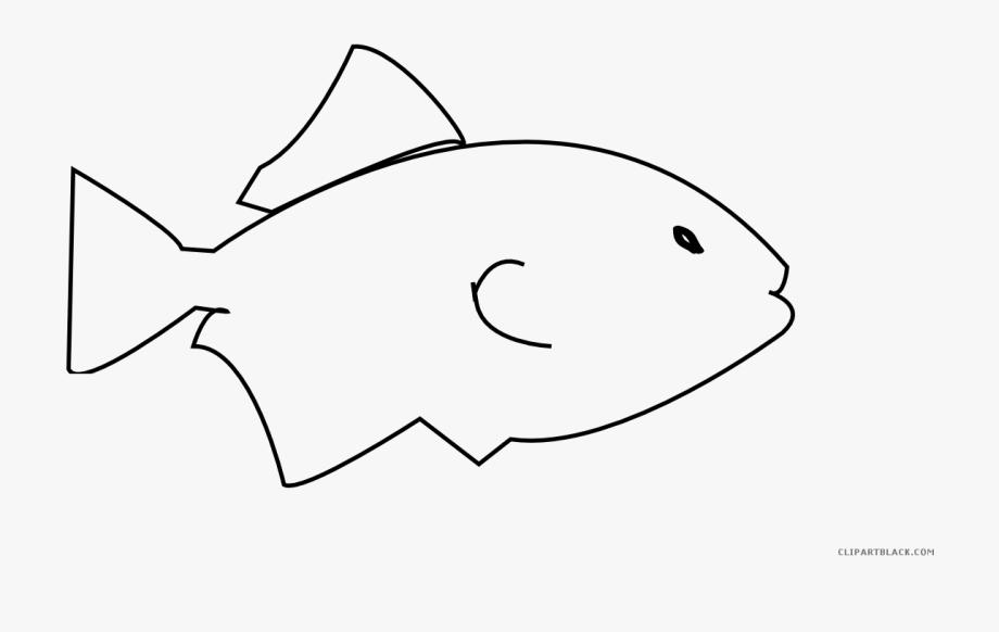 Fish Outline Clipart.