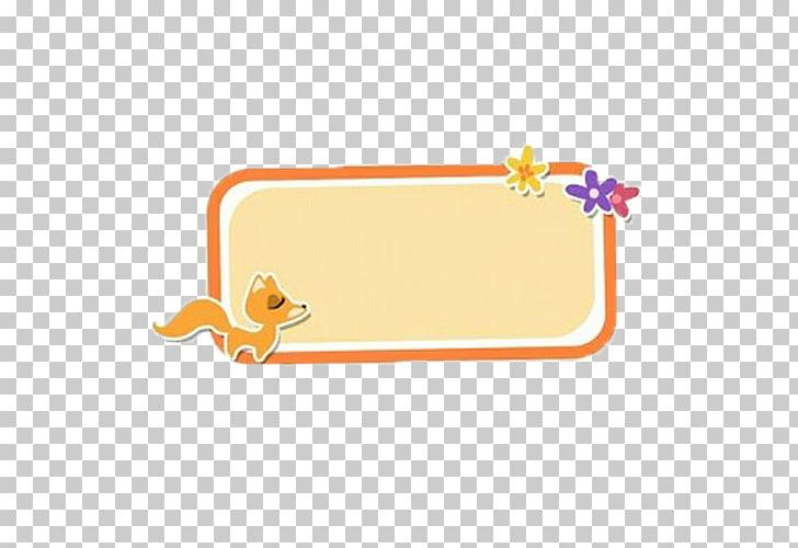 Fox Computer file, Small fox border PNG clipart.