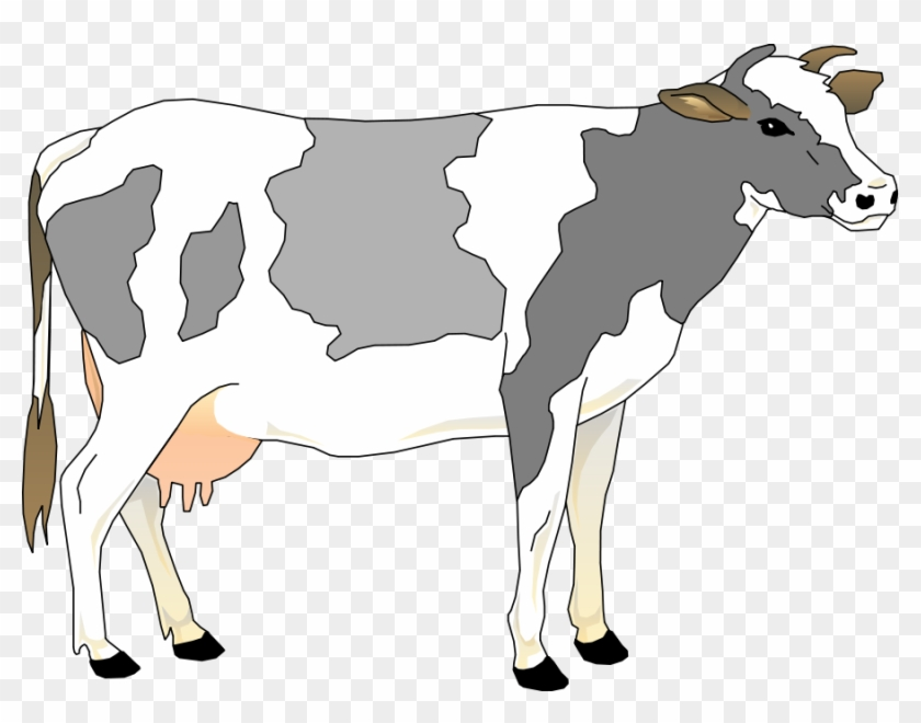 Cow 3 Small Clipart 300pixel Size, Free Design.